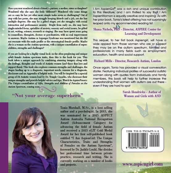 Back cover of I Am AspienWoman